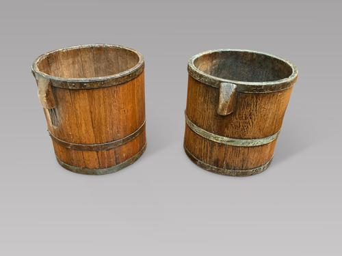 Pair of Wooden Bushel Tubs (1 of 3)