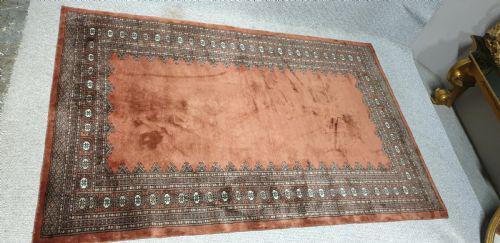 Good Rust Coloured Indian Woolen Carpet (1 of 18)