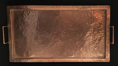 Arts & Crafts Planished Copper Tray (1 of 2)