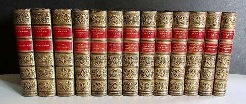 1891 The Novels of  William Makepeace Thackeray.   Complete in 13 Fine Leather Bindings (1 of 5)