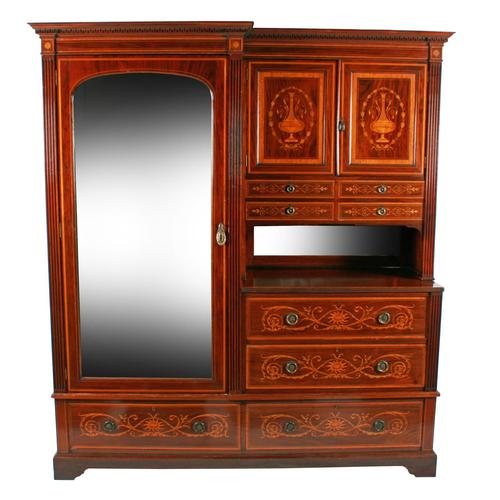 Marquetry Inlaid Wardrobe by Heal & Son (1 of 8)