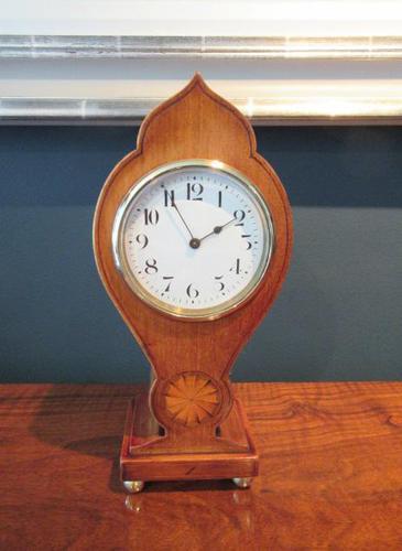 Edwardian Sheraton Teardrop Mantel Clock (1 of 6)