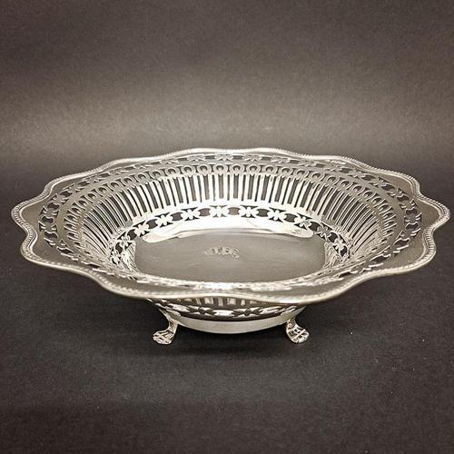 George V Silver Pierced Bowl (1 of 4)