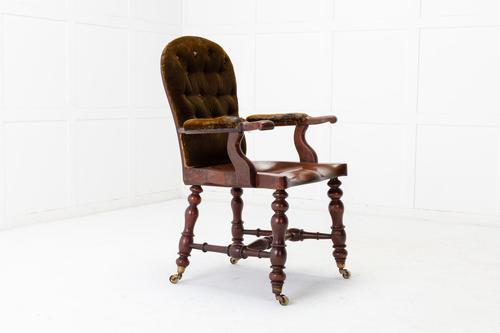 19th Century English Mahogany Armchair (1 of 8)