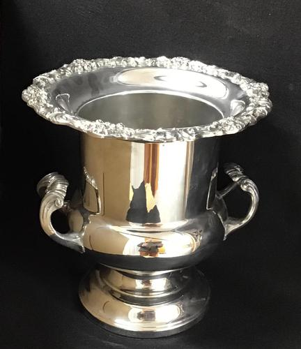 Large Silver Plated Two Handle Ice / Wine / Champagne Bucket (1 of 5)