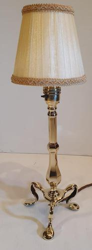 19th Century Brass Candlestick Converted to a Table Lamp (1 of 3)