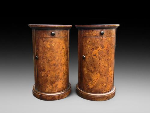 A Pair of Very Desirable Burr Walnut Pot Cupboards (1 of 4)