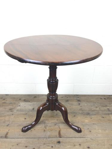 19th Century Mahogany Tilt Top Tripod Table with Circular Top (1 of 9)
