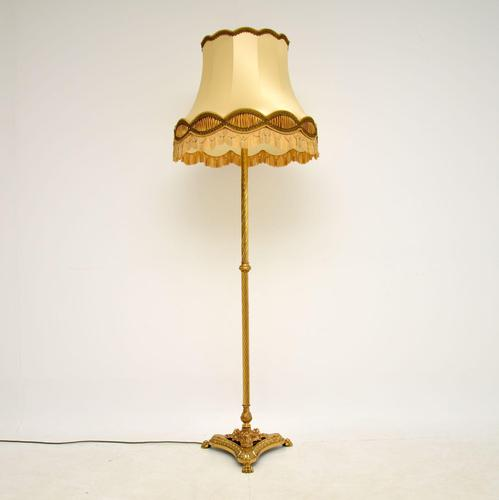 Antique French Style Brass Floor Lamp (1 of 8)