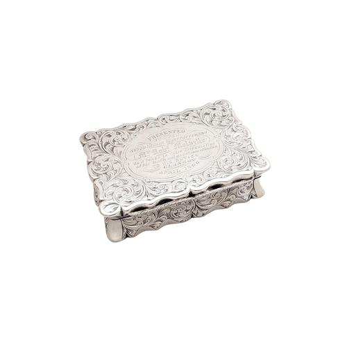 Antique Victorian Sterling Silver Snuff Box 1852 (1 of 11)