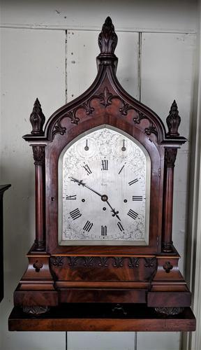 Mid 19th Century Musical Gothic Bracket Clock (1 of 9)