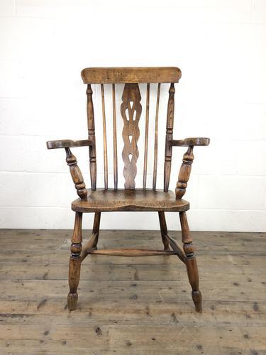 Antique Beech & Elm Windsor Armchair (1 of 12)