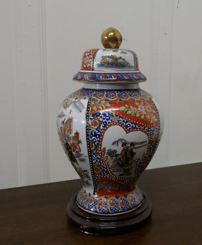 Large Decorative Oriental Ginger or Spice Jar on Stand (1 of 7)