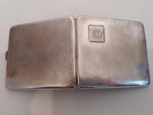 Silver Cigarette Case, Hallmarked 1932 (1 of 4)