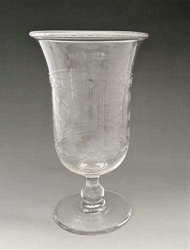 Delightful Victorian Etched Celery Vase (1 of 5)