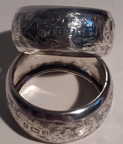 Pair of Silver Napkin Rings, Hallmarked Birmingham 1900 (1 of 3)