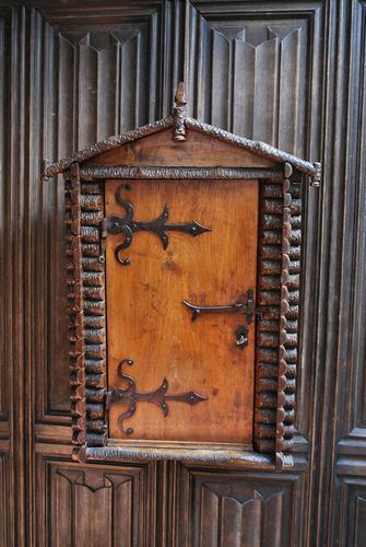 Antique Rustic Swiss Log Cabin Hanging Cupboard (1 of 7)