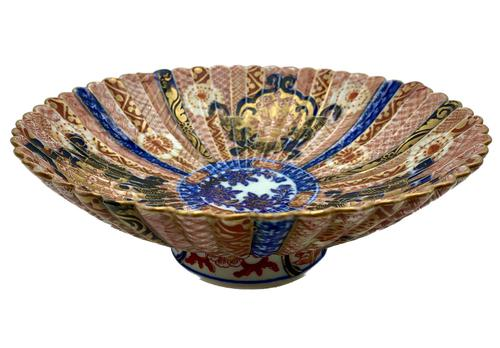 Antique Oriental Imari Porcelain Pedestal Dish c.1870 (1 of 8)