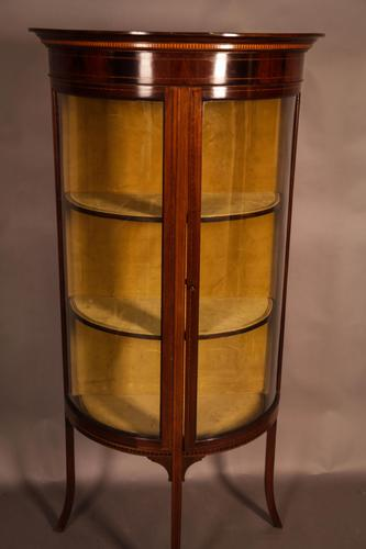 Good Quality Display Cabinet with Bow Glass Doors (1 of 5)
