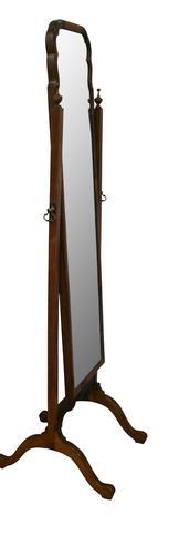 Edwardian American Black Walnut Cheval Mirror (1 of 3)