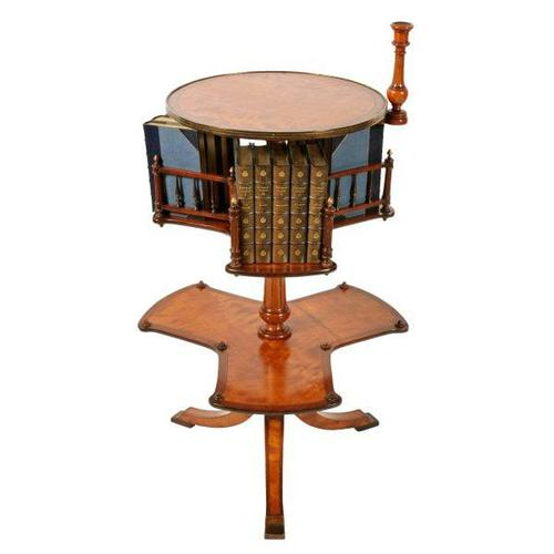 Victorian Satinwood Book Stand (1 of 8)