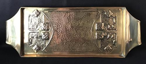 Glasgow Style Brass Repousse Tray (1 of 5)