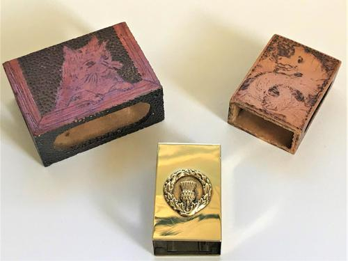 Three Antique Matchbox Holders (1 of 6)