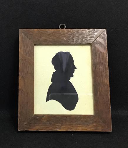 Victorian Silhouette in Oak Frame (1 of 4)