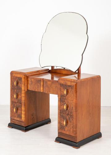 Art Deco Walnut Dressing Table (1 of 8)
