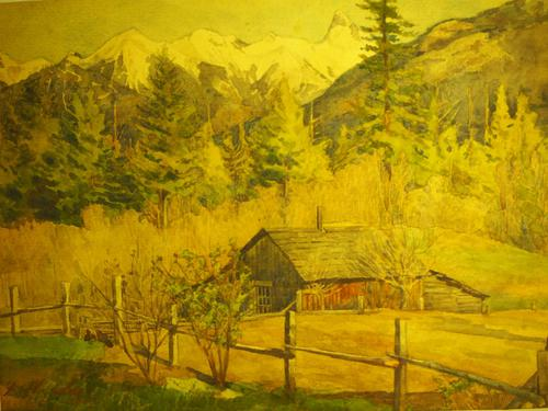 Watercolour by F.W.Lee (1 of 3)