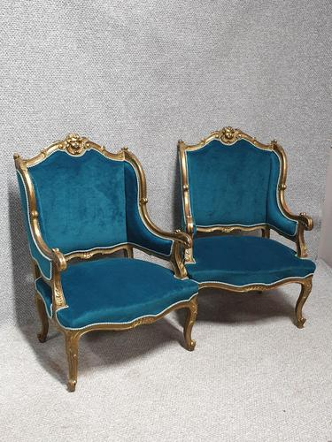 Pair of French Armchairs Fauteuils (1 of 9)