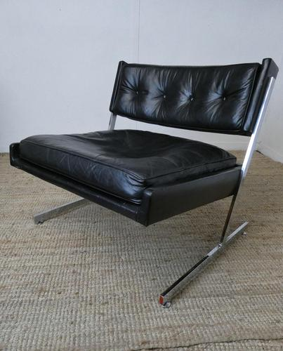 1960s Chrome & Leather Chair (1 of 12)