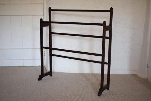 Victorian Walnut Towel Rail Stand With Octagonal Rails (1 of 10)