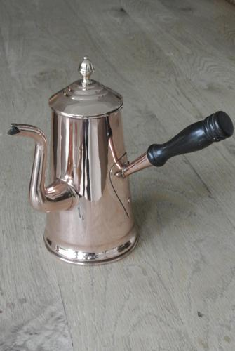 Victorian Copper Coffee Pot Dovetail Seam and Acorn Finial (1 of 8)