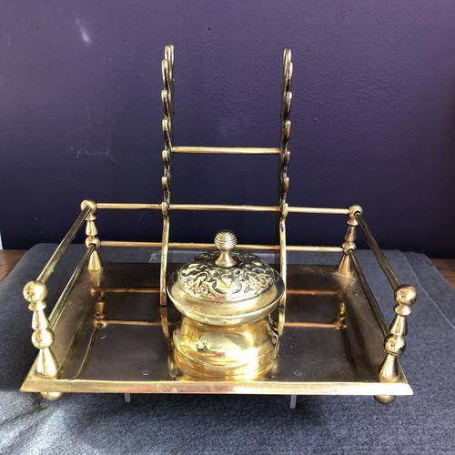 Brass  Desk Inkwell (1 of 5)