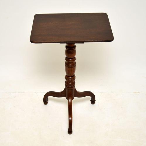 Antique Georgian  Oak Side Table (1 of 7)