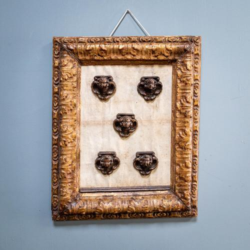 5 Carved Heads in Gilt Frame (1 of 10)