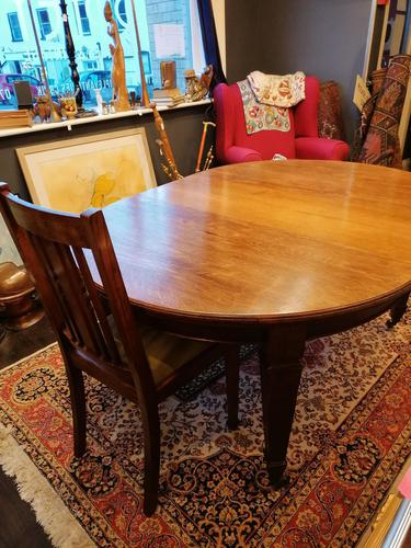 Arts & Crafts Oak, Medullery Ray Extending Table with 6 Chairs, in the manner of Liberty & Co (1 of 22)