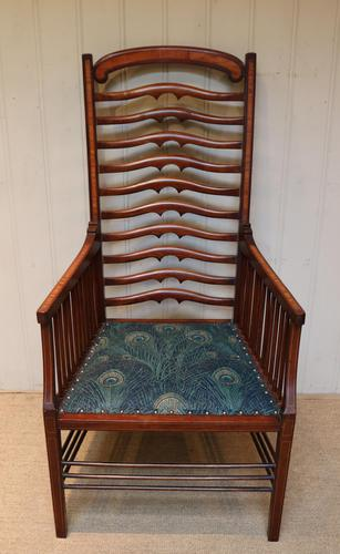 Arts And Crafts Mahogany Ladder Back Armchair (1 of 10)