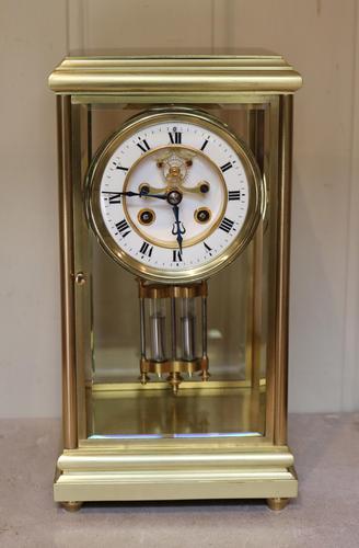 Bell Striking Brass Four Glass Clock (1 of 9)