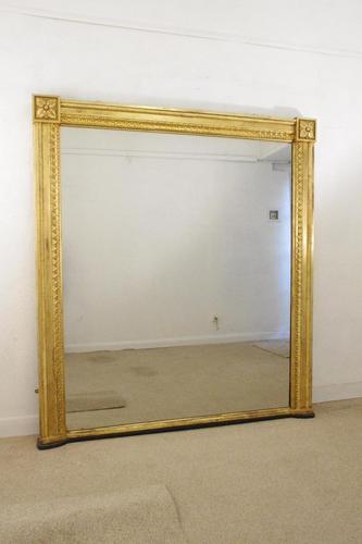 19th Century English Gilt Overmantle Mirror (1 of 11)