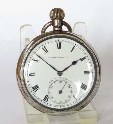 Antique 1920s Moeris pocket watch. (1 of 6)