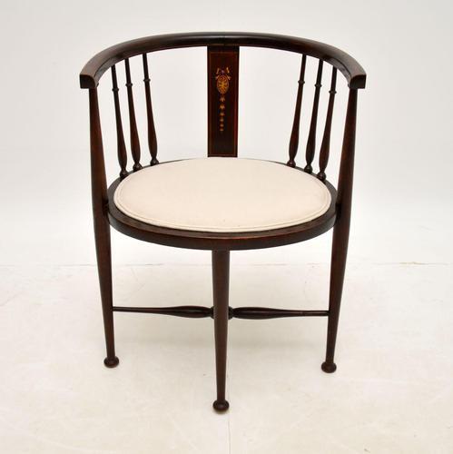 Antique Edwardian Mahogany Tub Chair (1 of 10)