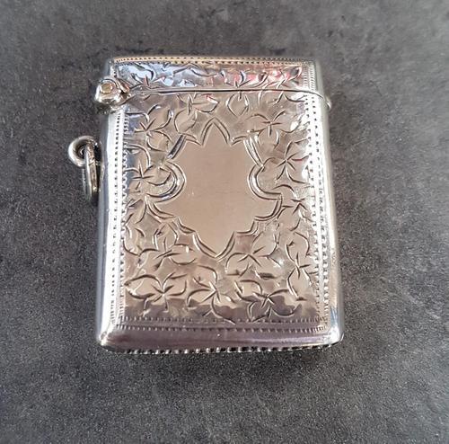Sterling Silver Vesta Case - 1920 (1 of 4)