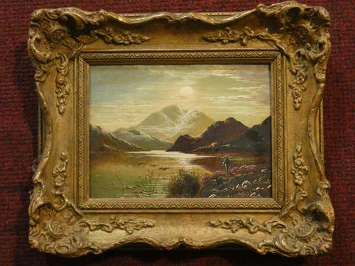Charles Leslie - Oil on Canvas - Highland Shooting Scene (1 of 4)