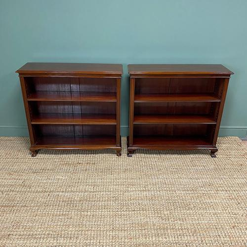 Pair of Edwardian Mahogany Antique Bookcases by John Taylor (1 of 6)