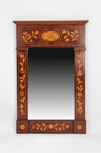 19th Century Dutch Inlaid Mahogany Mirror (1 of 13)