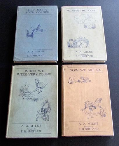 1934 A. A. Milne Winnie The Pooh Complete Set of 4 Books  All With Original Dust Jackets. (1 of 6)