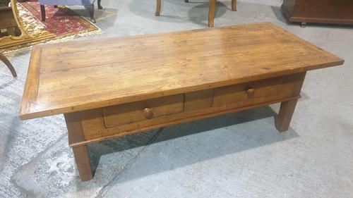 Outstanding Oak  Plank Top Coffee Table (1 of 8)