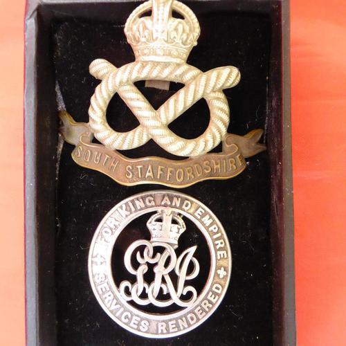 WW1 South Staffs Cap & Wound Badge (1 of 2)